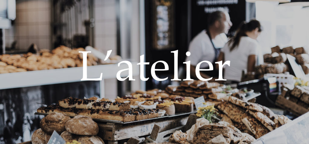 Identité visuelle l'atelier artisan boulanger patissier