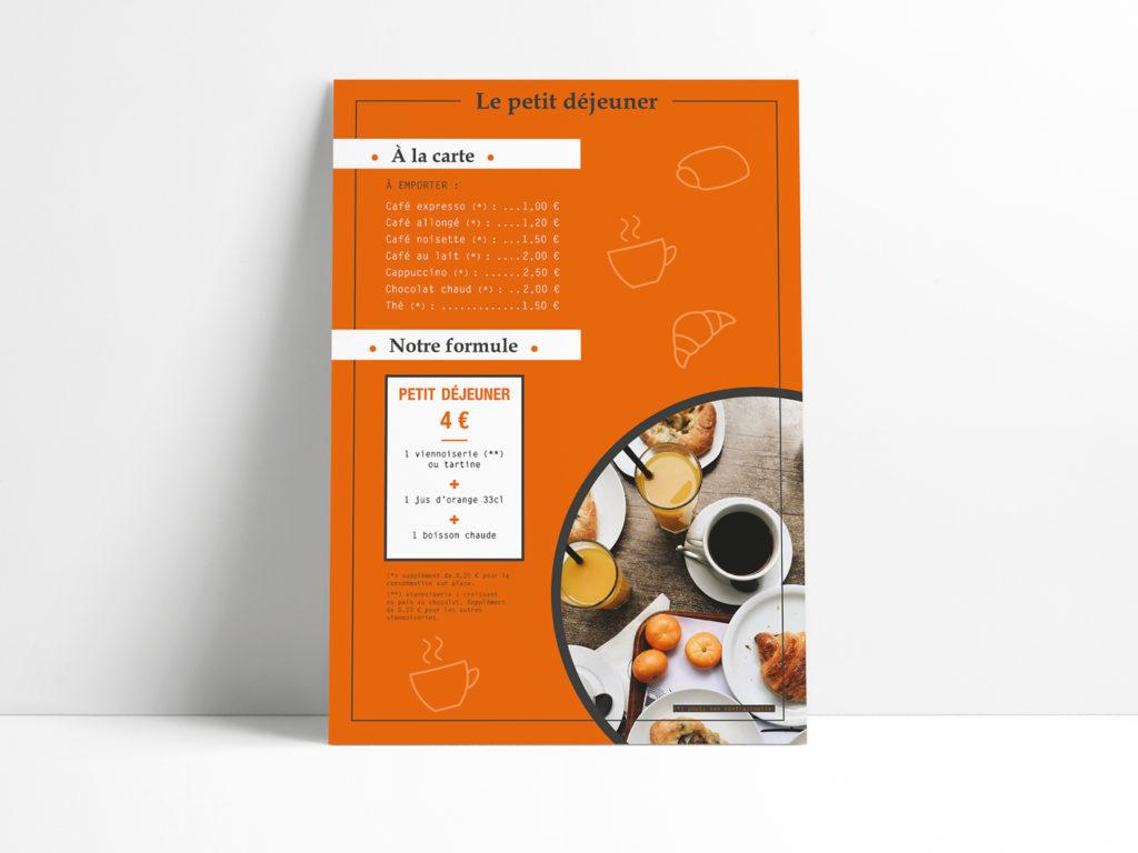 Affiche petit déj l'atelier artisan boulanger patissier