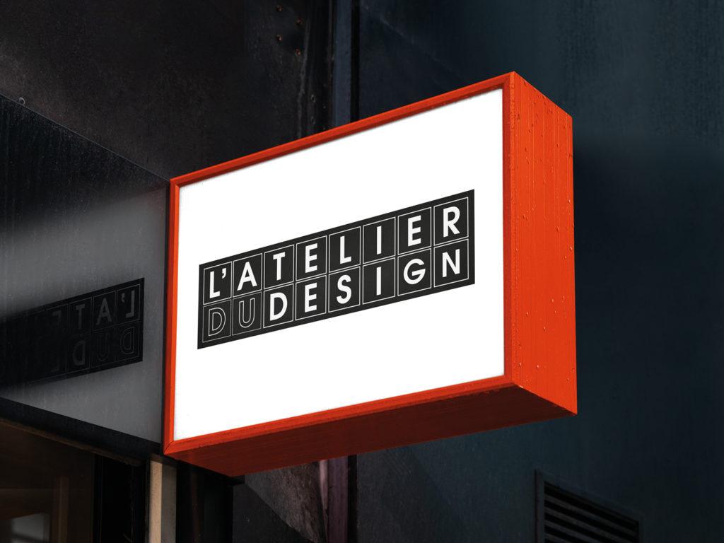 Mock up Identité visuelle atelier du design