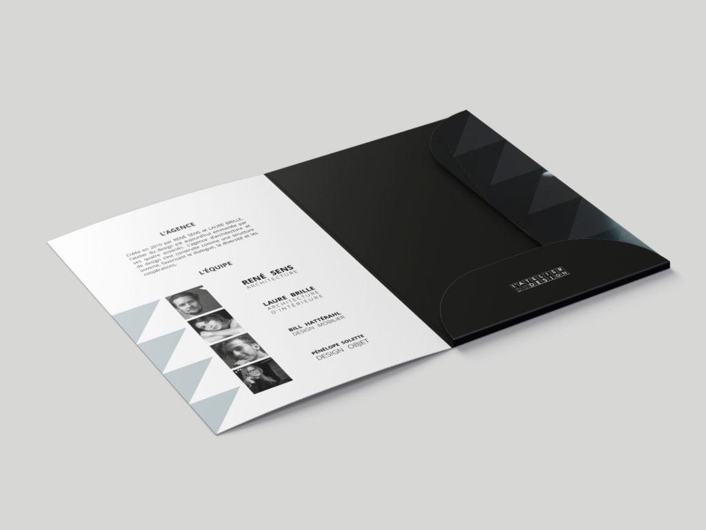 pochette à rabat atelier du design