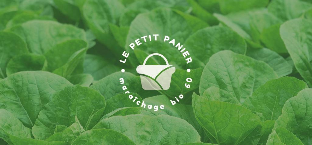 Identité visuelle le petit panier vente de légumes bio dans les hauts de France