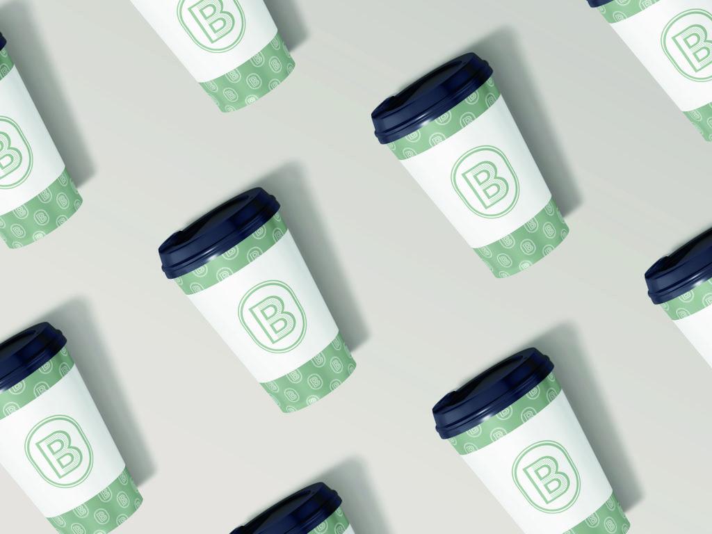 Identité visuelle Barista boutique de vente de café haut de gamme