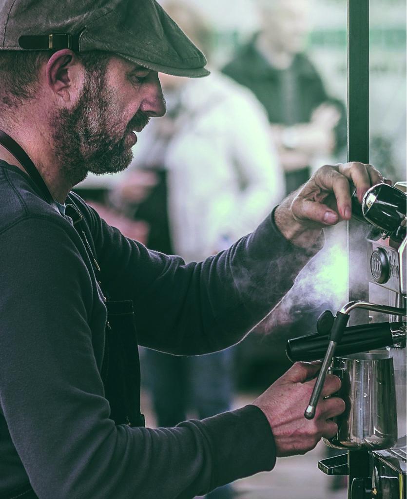 Identité visuelle Barista vente de café moulu, en grain à plusieurs parfums