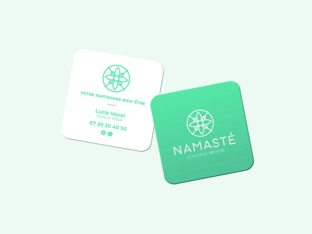 carte de visite Namasté coach yoga